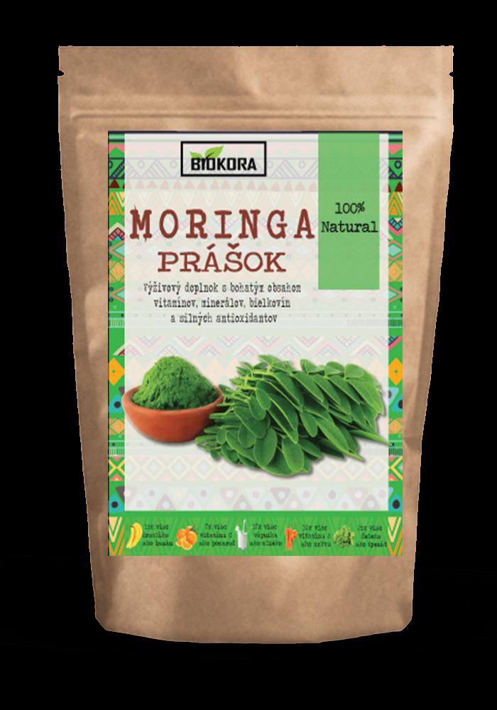 Moringa powder biokora Moringový prášok