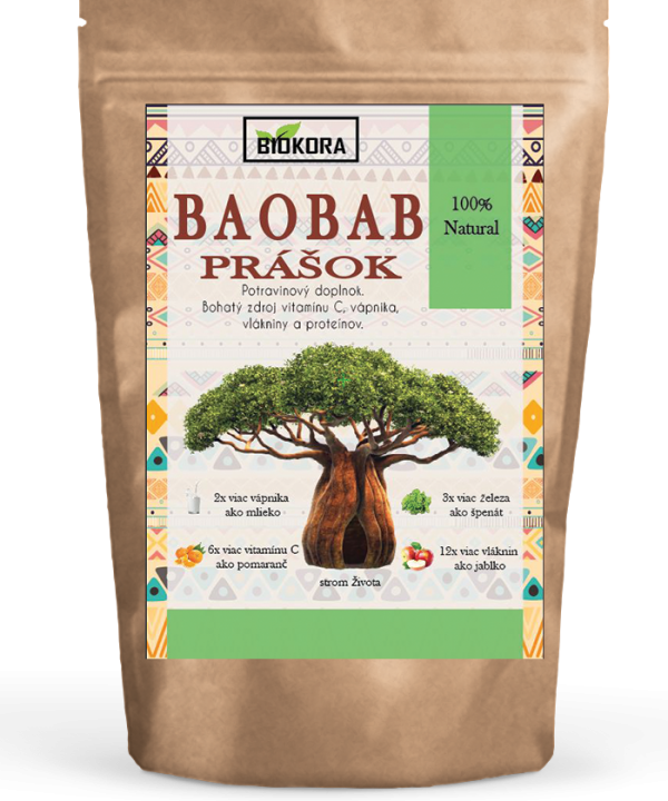 Baobab powder biokora Baobabový prášok